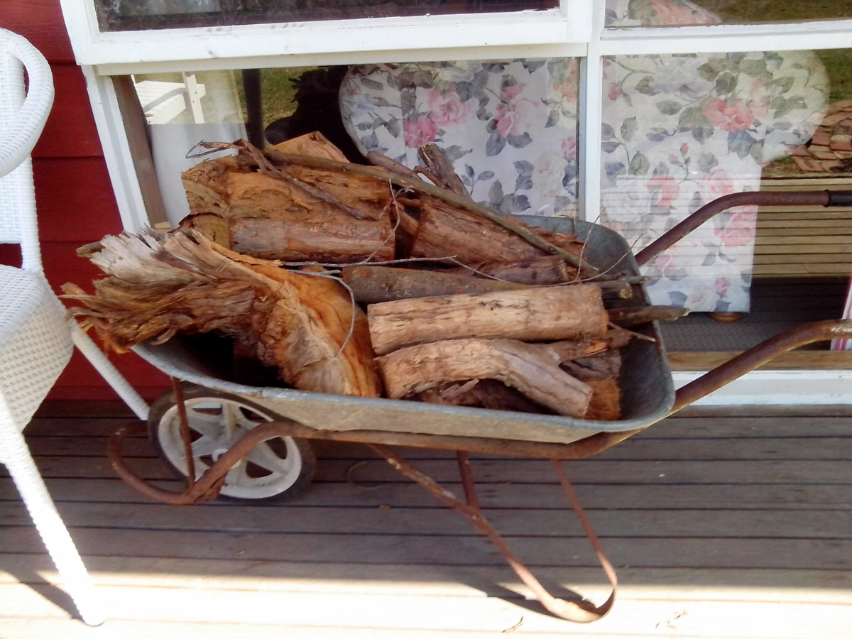 Firewood are ready for the cold nights.