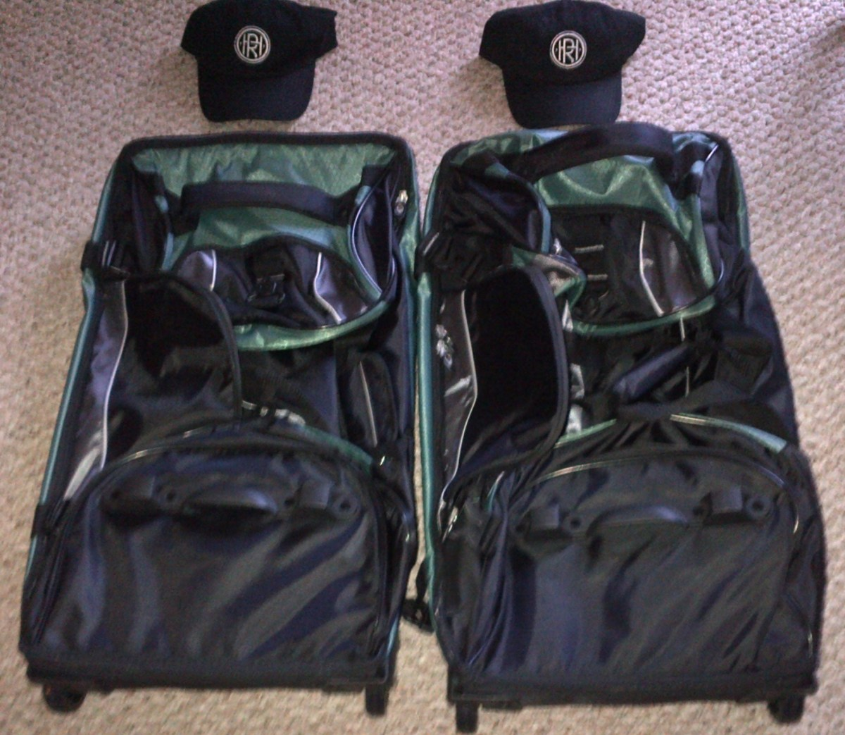 Surprise Luggage and Caps