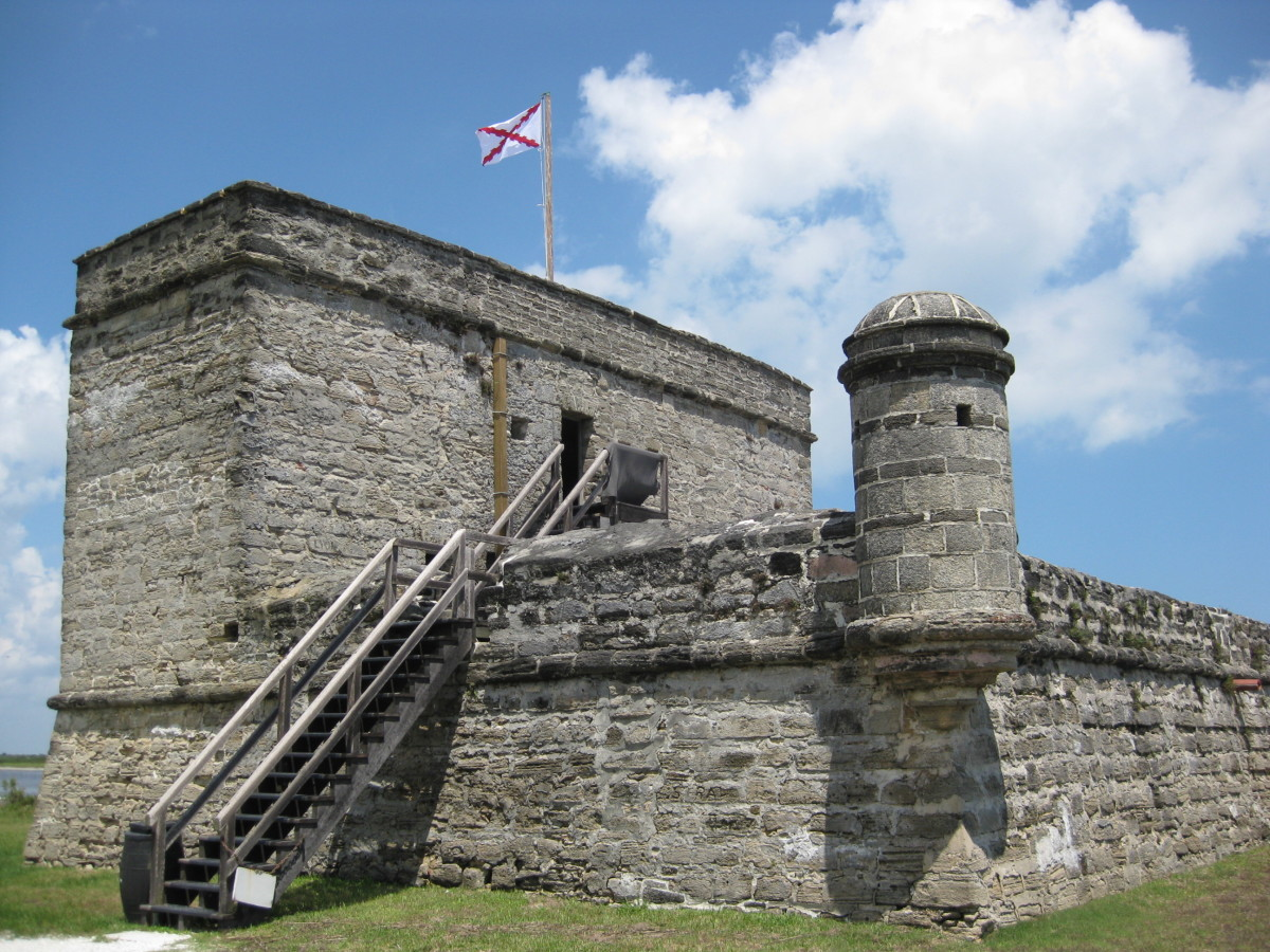 Fort Matanzas National Monument is a Spanish Fort used to protect St. Augustine from attackers accessing the River Matanzas to attack the city.  Work on constructing it was begun in 1740 and completed in 1742.