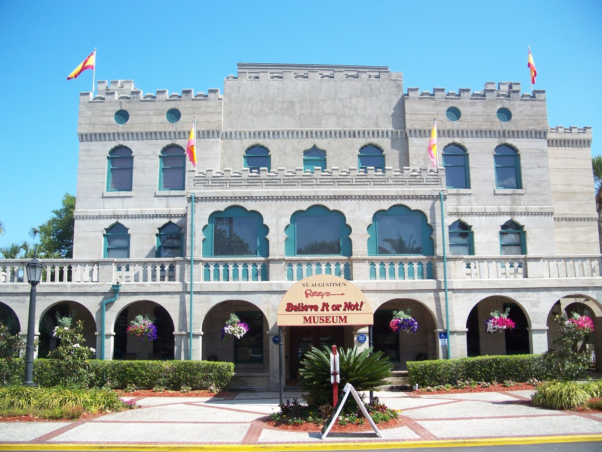 "The oldest Ripley's Believe It or Not! in the world, the St. Augustine museum is housed in Castle Warden, which was bought shortly after Robert Ripley's death in 1949 and opened in 1950.  ""The Castle"" hosted many famous guests in its heyday."