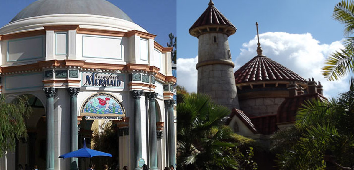Left: California Adventure. Right: Magic Kingdom.