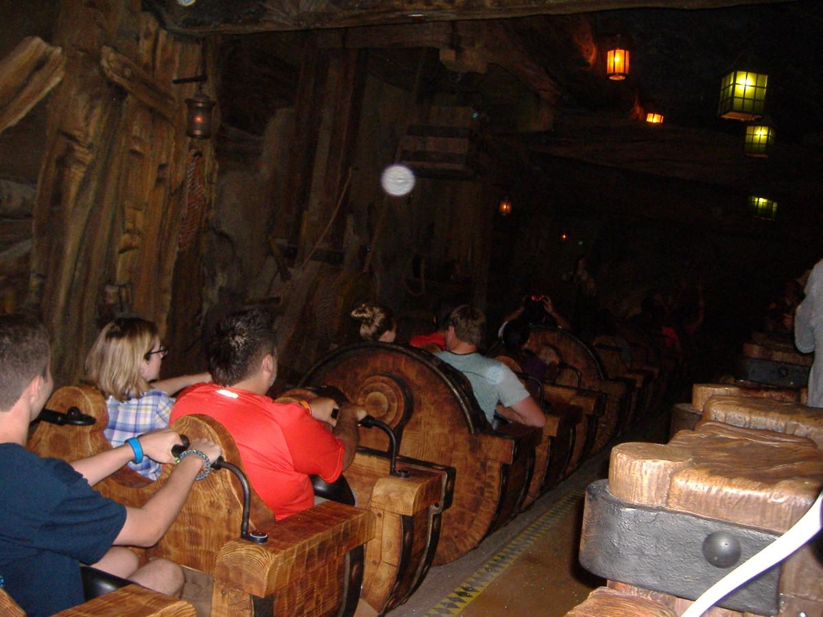 The loading area of Seven Dwarfs Mine Ride