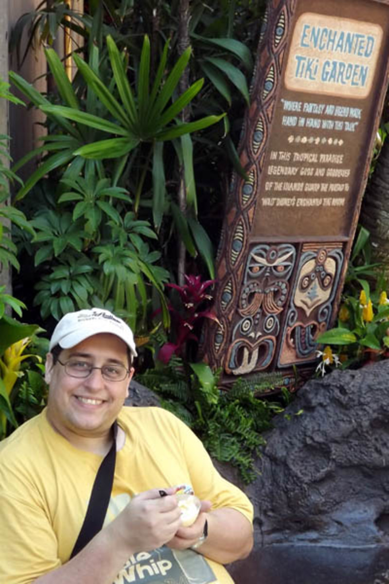 The author enjoying a Dole Whip.