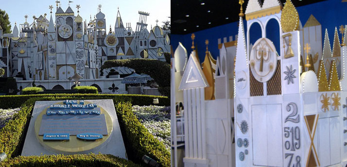 It's a Small World. Left: Disneyland. Right: Magic Kingdom.