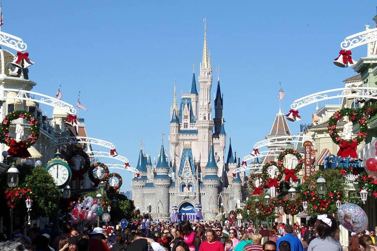 Christmastime in Magic Kingdom