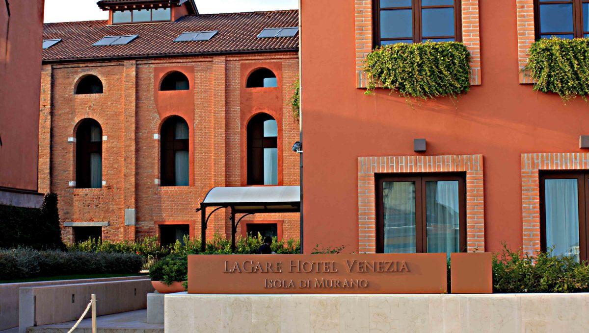 The LaGare Hotel Venezia adjacent to the Murano Museo Vaporetto Station
