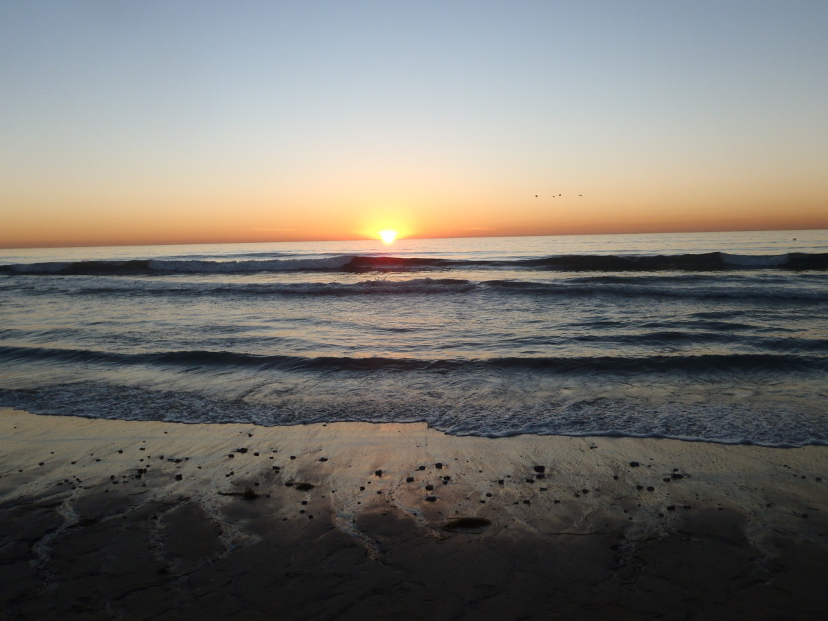Sunset, Carlsbad, California.