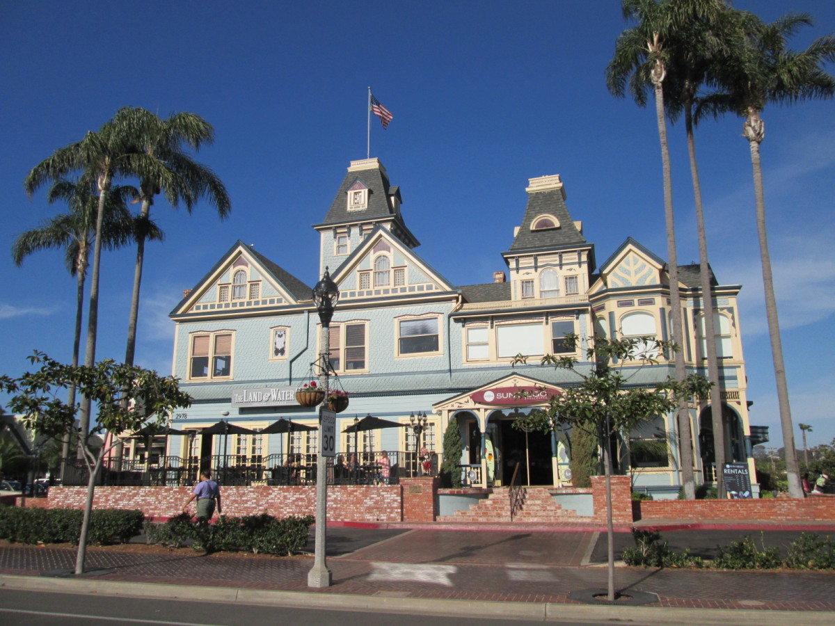 Victorian era hotel, Carlsbad Village.
