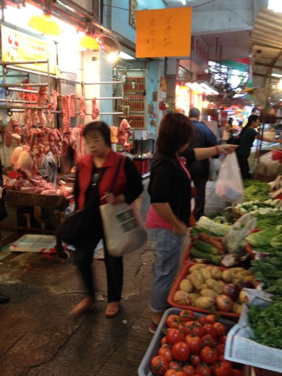 I never tire of exploring new markets in Hong Kong (c) A. Harrison