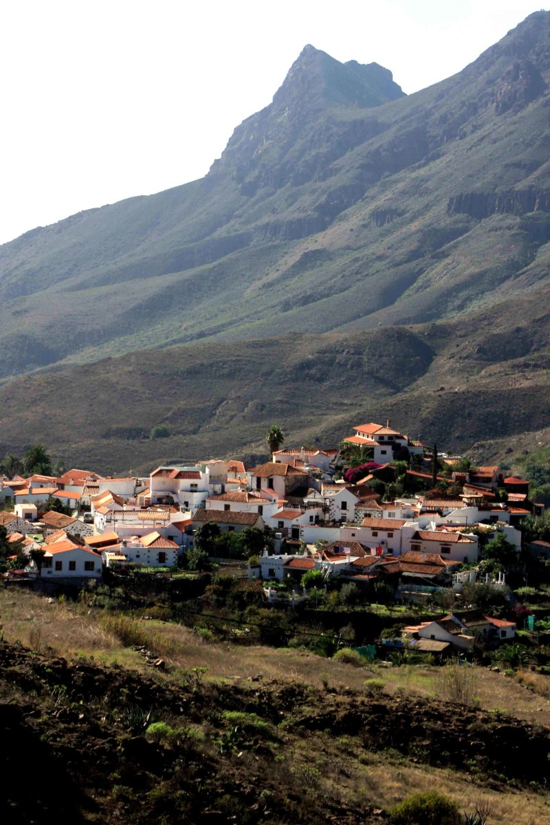 The village of Fataga, altitude 600m (2,000ft), population 400. The first and one of the prettiest villages to be seen when arriving from the south along GC 60