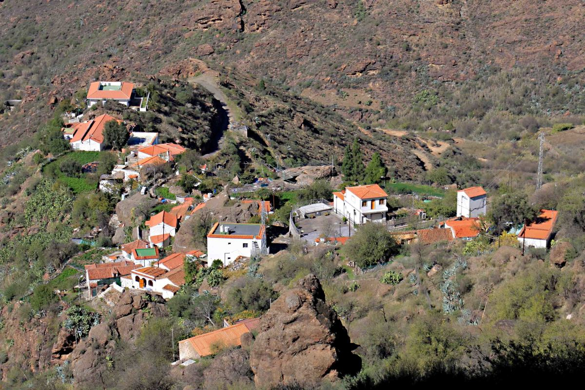 The little village of Timagada nestled in a valley in Central Gran Canaria