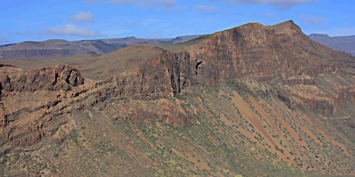 Mountain landscape in central Gran Canaria