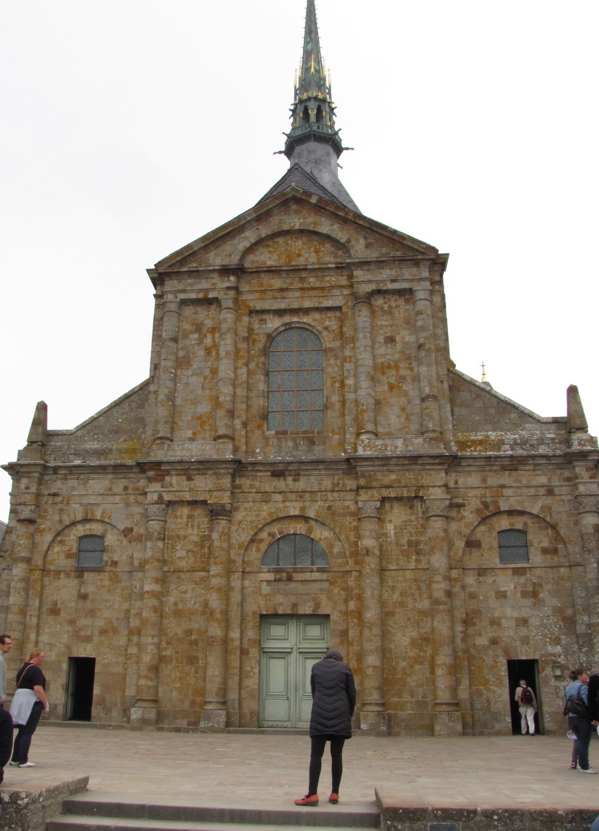 The Church that sits at the top of the Mont