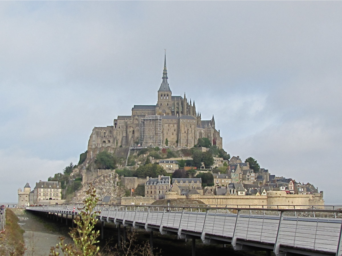 Mont Saint-Michel from the causeway
