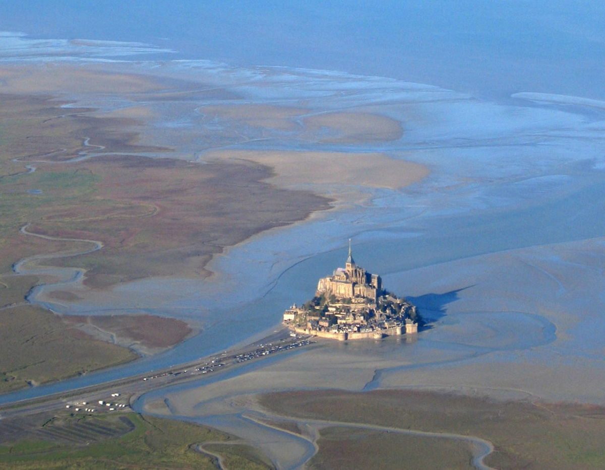 Aerial view of Mont Saint-Michel