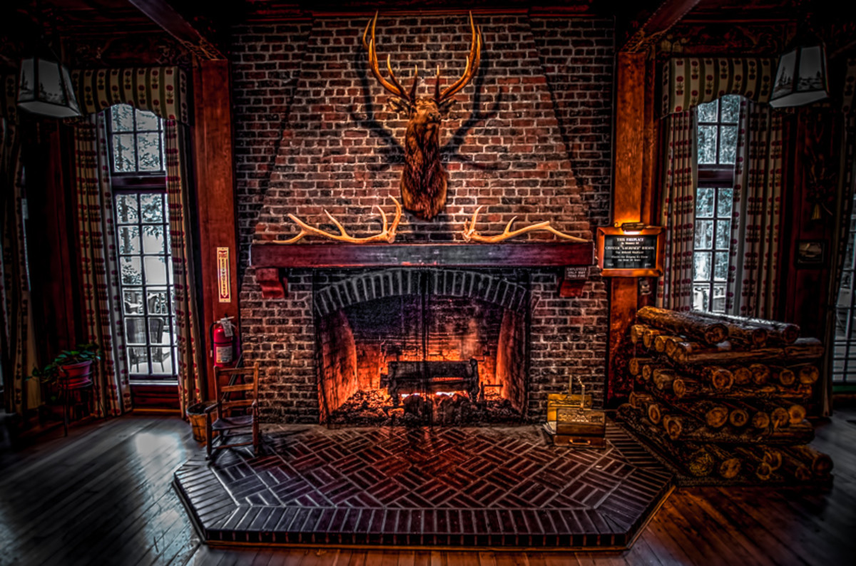 Lake Quinault Lodge Fireplace
