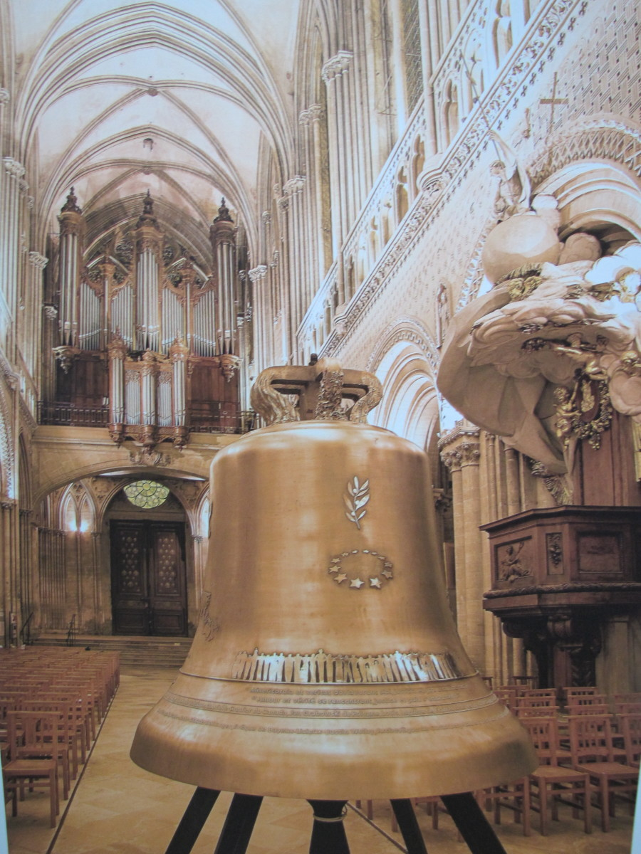 The Bell of Peace and Liberty.  This new bell was created to commemorate the 70th anniversary of the Allied Landing in Normandy.