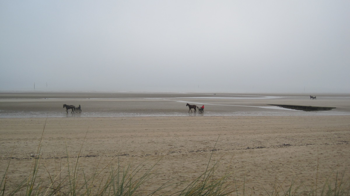A much different scene today at Utah Beach