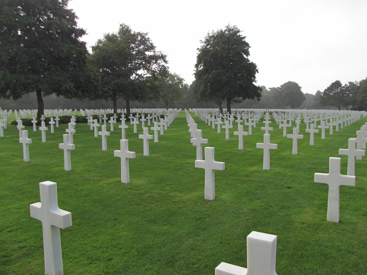 The American Cemetery above Omaha Beach