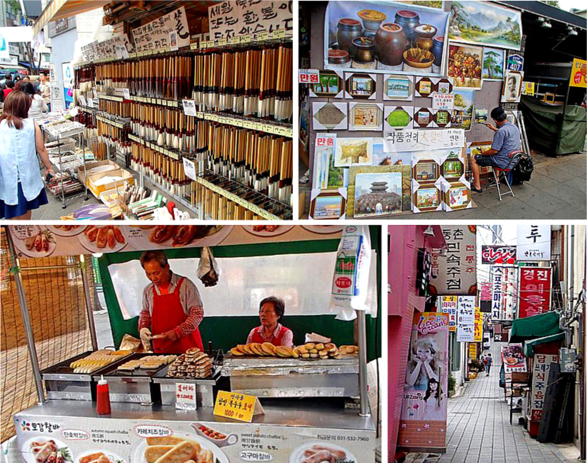 Insadong Street Market scenes
