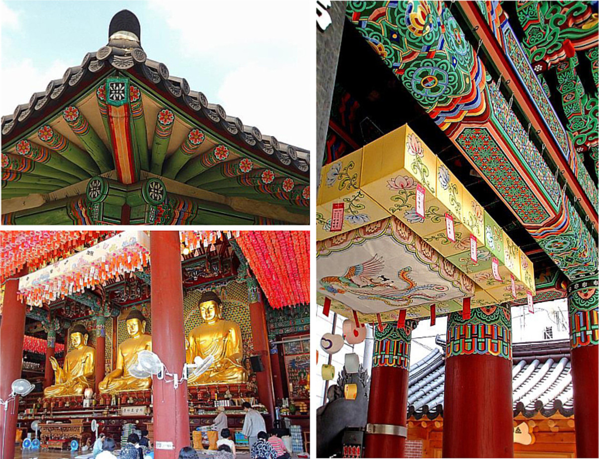 Temple architecture, One Pillar Gate and Main Dharma Hall