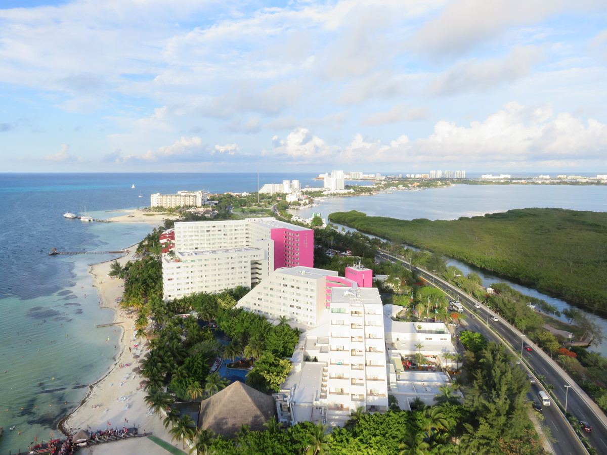 This is a photo of one of the Grand Oasis resorts we took from a 263 foot tower.