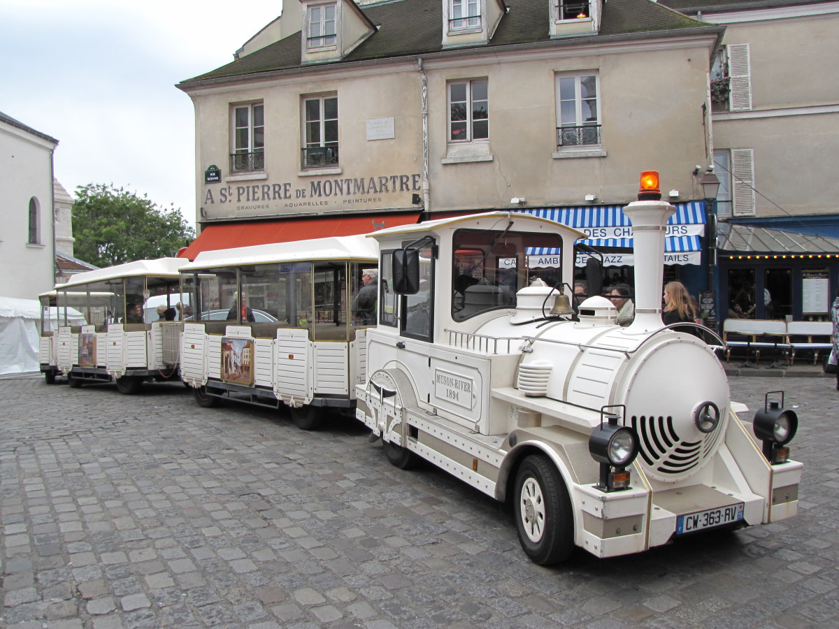 For a unique tour of the Montmartre area of Paris take  a tour on Le Petit Train de Montmartre
