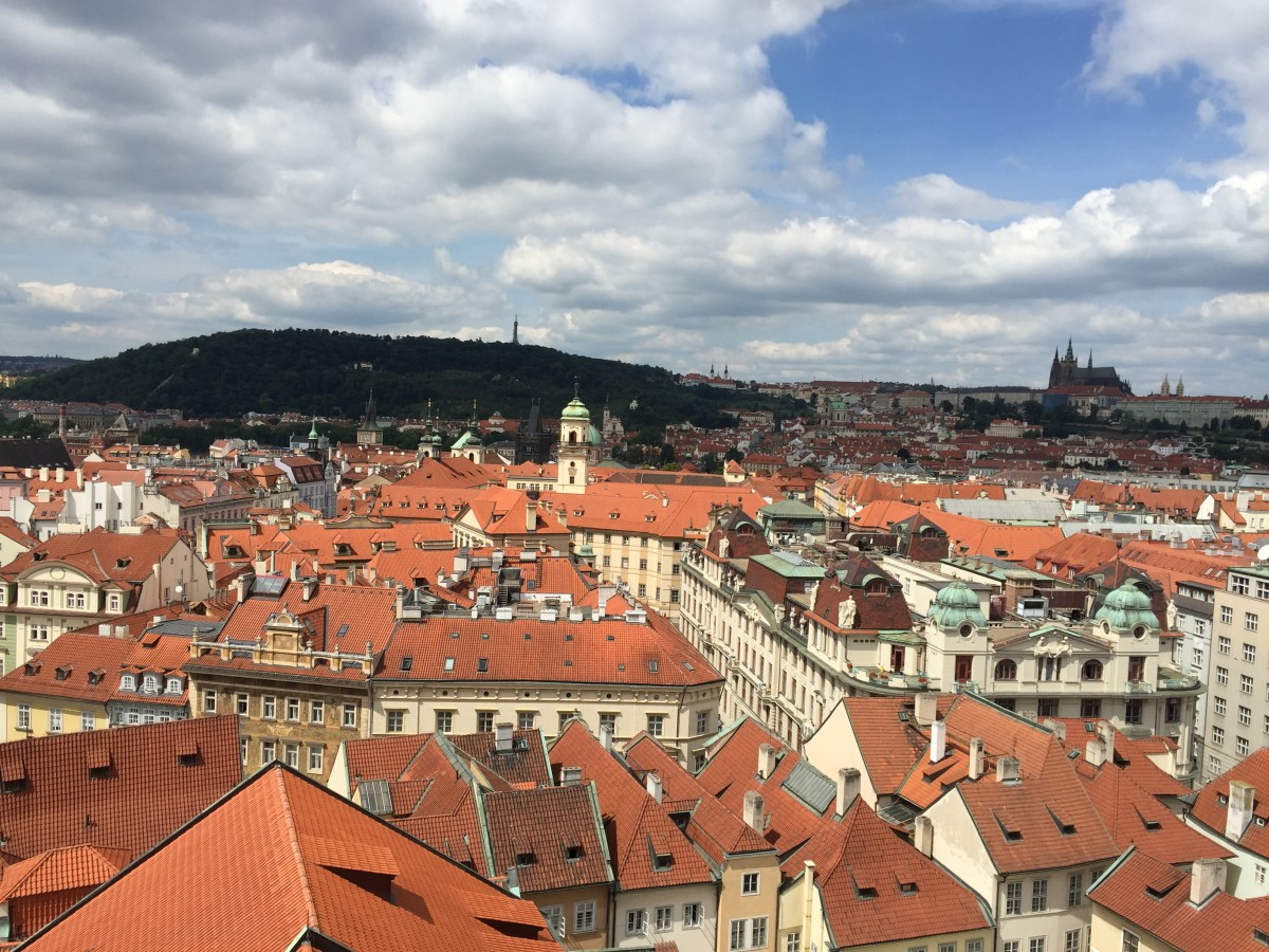 View of Prague. Image taken from the old Town Hall Tower