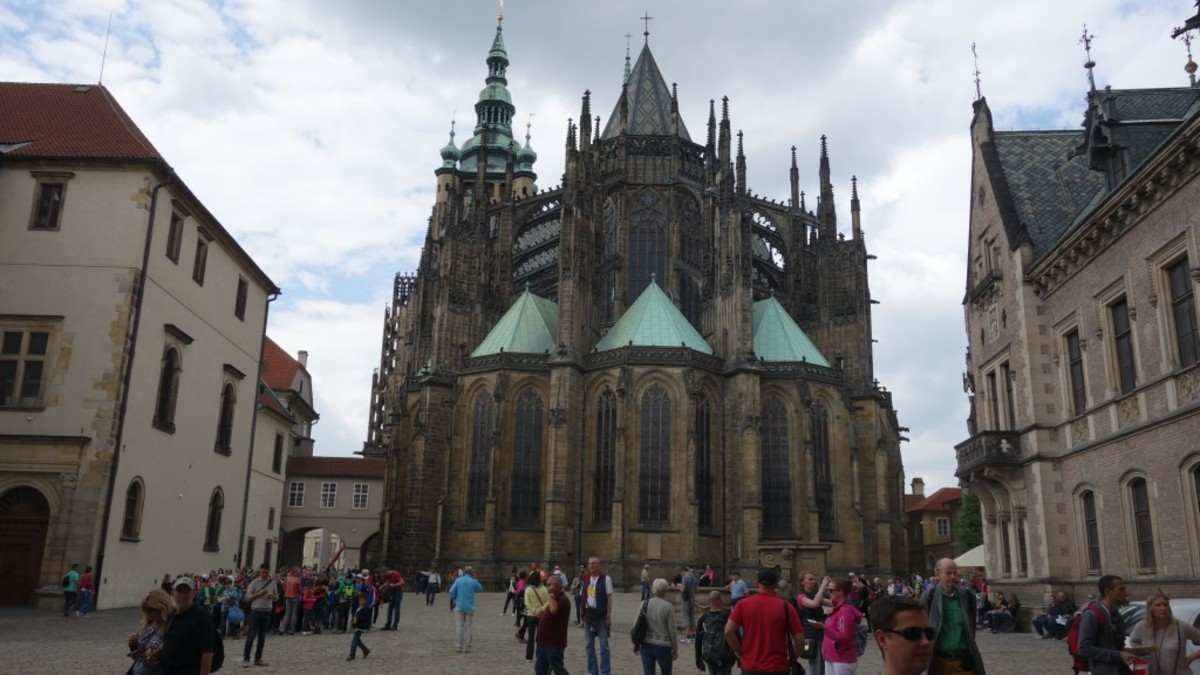 Back of St Vitus Cathedral