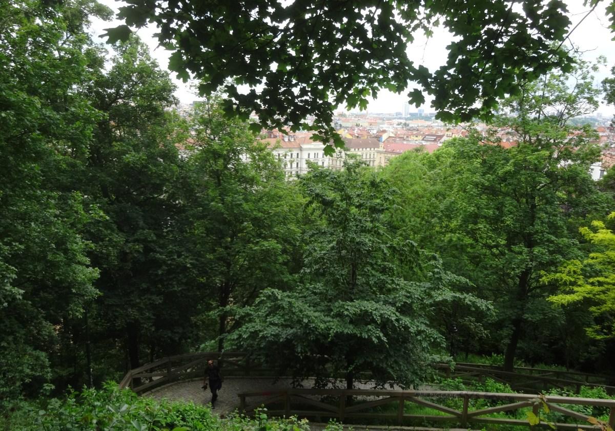 Walkway to Petrin Hill.  Prague, Czech Republic
