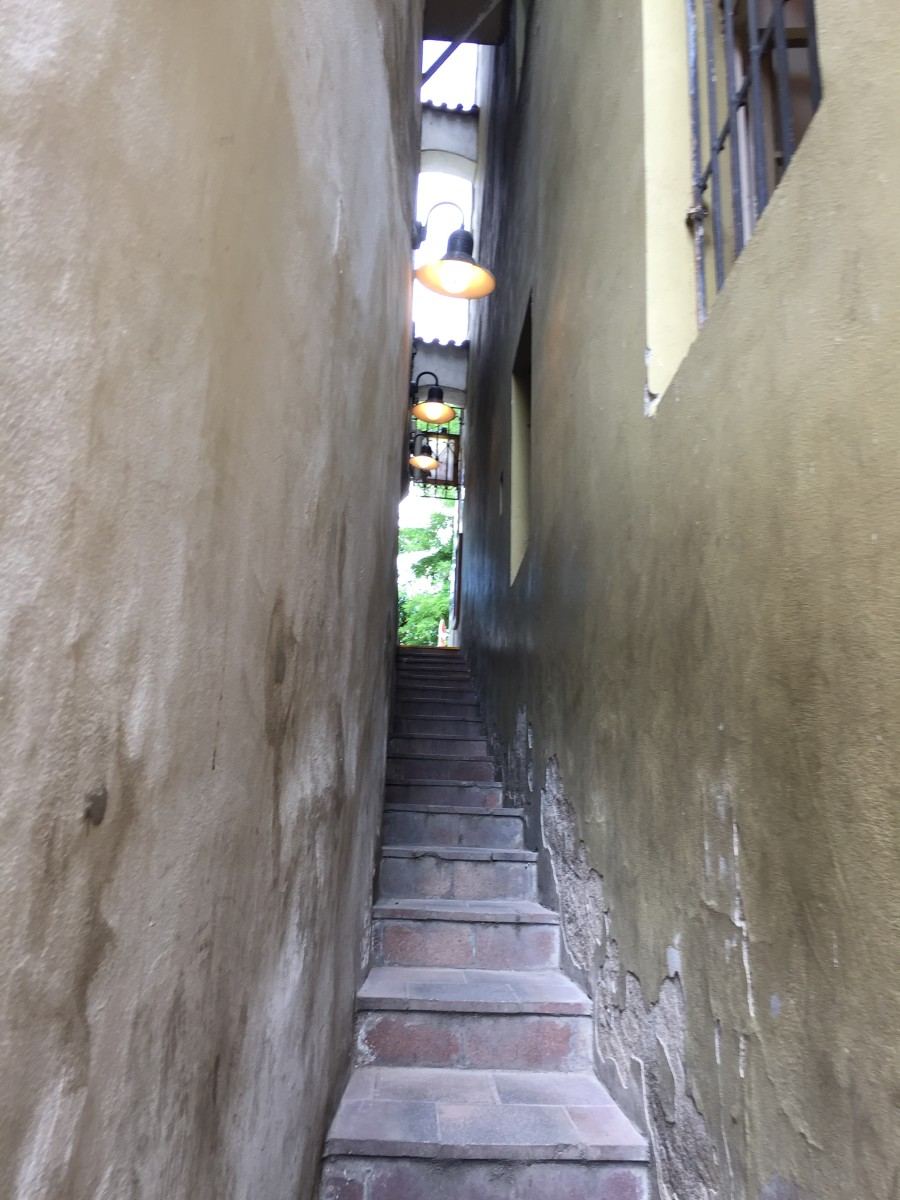 The Narrowest Street in Prague.