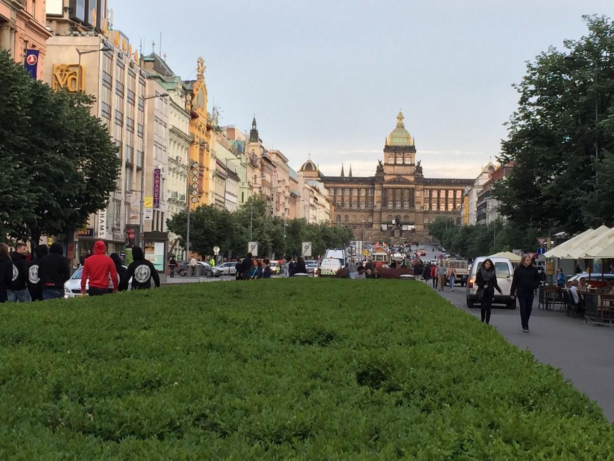 Wenceslas Square. Prague, Czech Republic