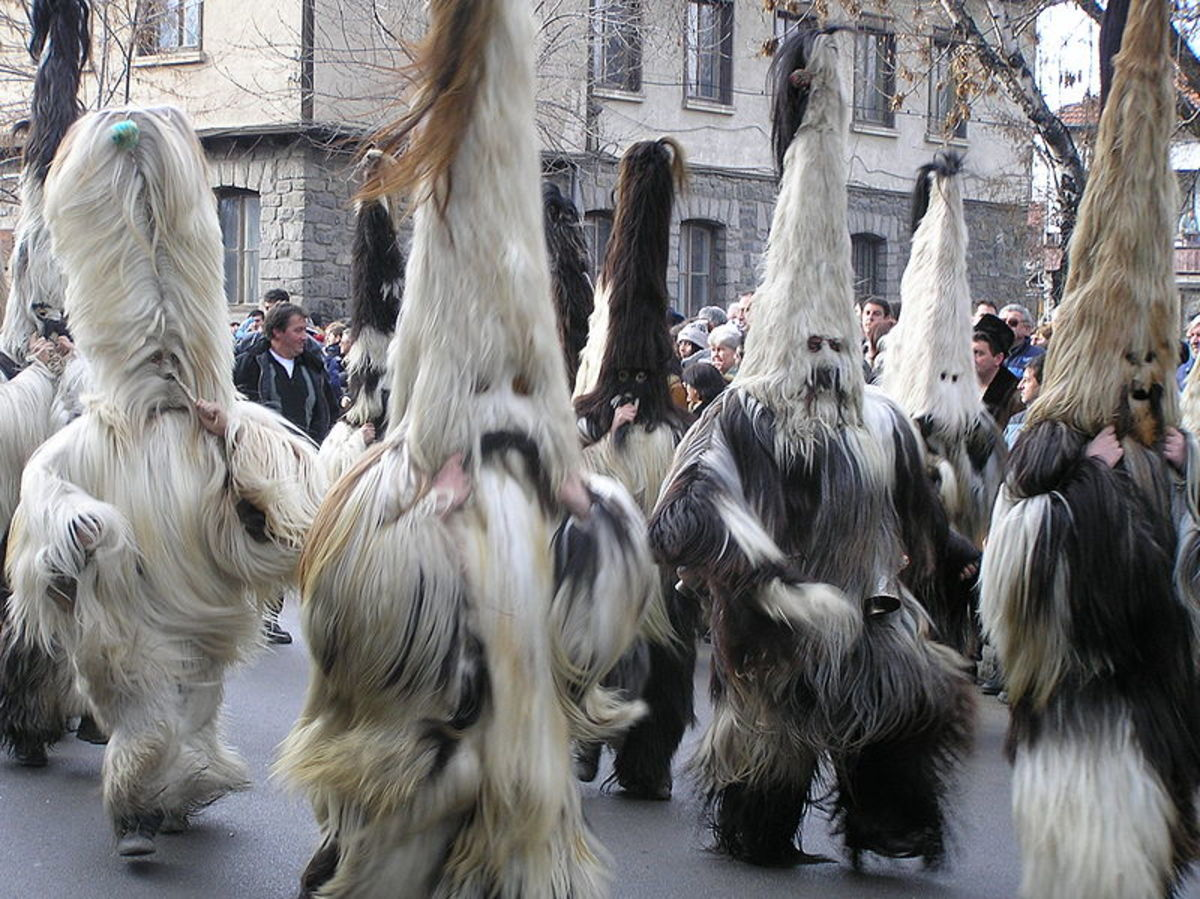 Masquerade ritual - kukeri razlog.