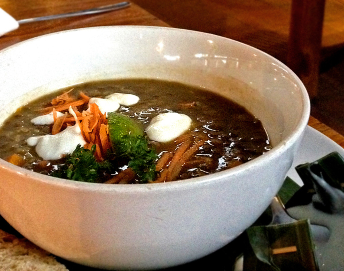 Bali Buda's hearty, honest, wholesome lentil soup.