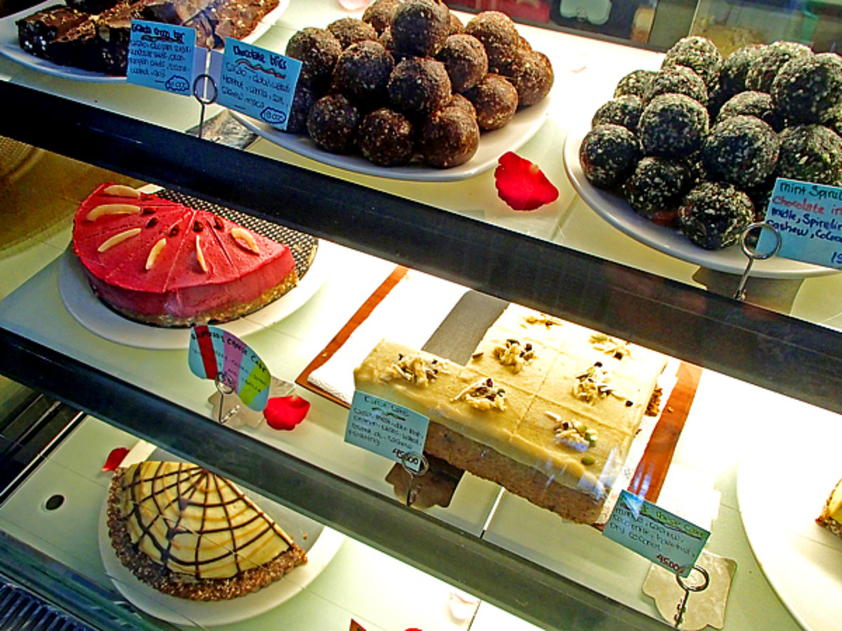 Chocolate 'bliss balls' and other raw dessert sweets at Seeds Of Life.