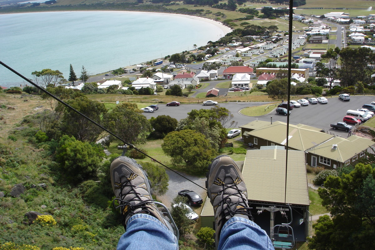 The view from the chairlift at the Nut, Stanley