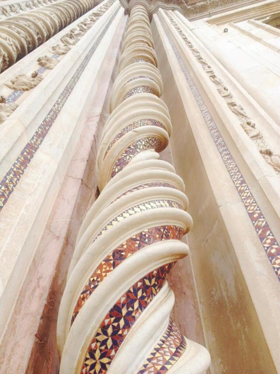 Some of the gorgeous columns at the Duomo.