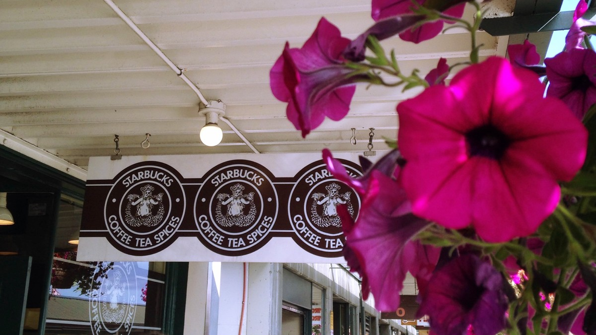 The original Starbucks...bypass the wait, take a picture and head to another one close by.