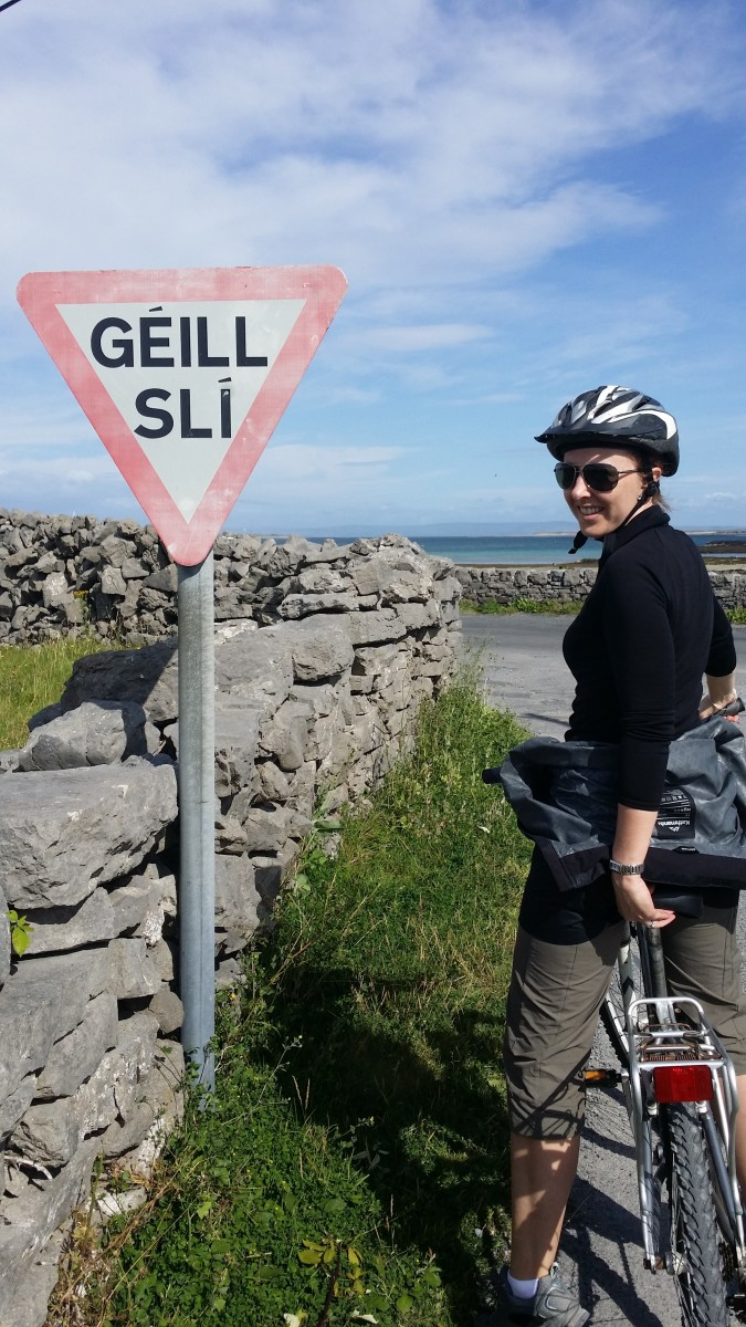 Cycling around the beautiful Irish Island of Inis Mór.