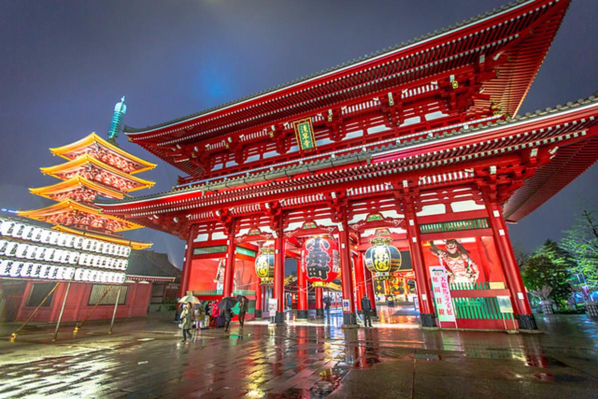 Asakusa Sensoji Shrine in Tokyo, Japan
