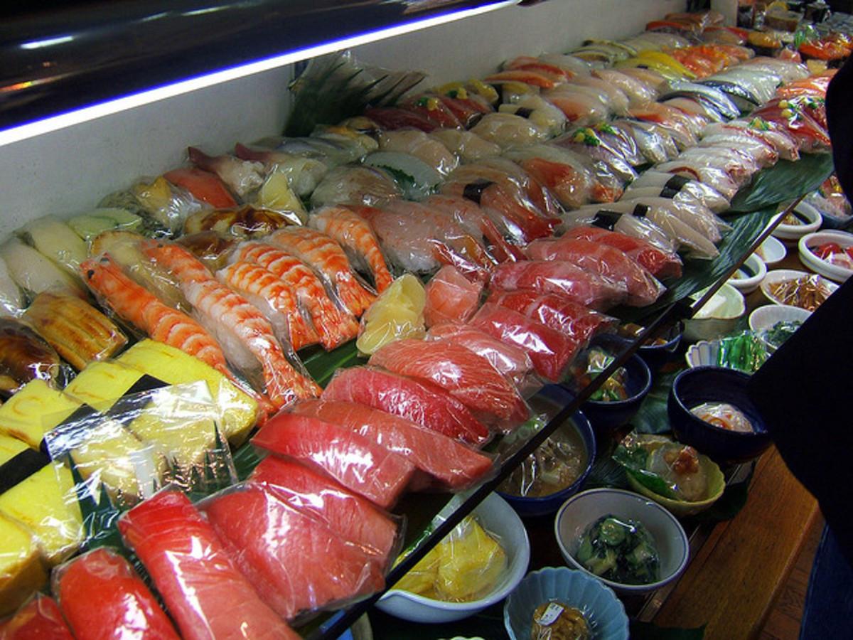 Fake Sushi in Kappabashi