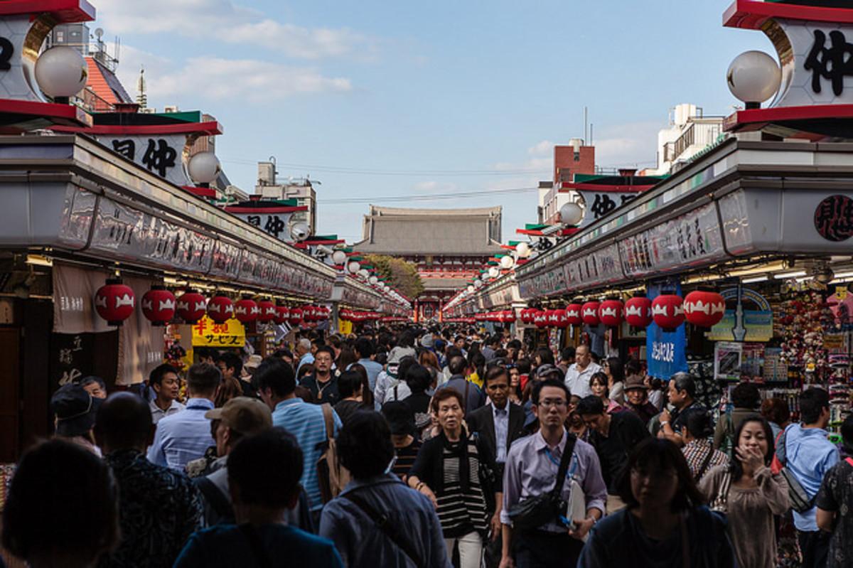 Nakamise Asakusa Markets in Tokyo, Japan