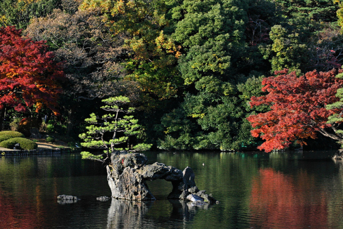 Rikugien Gardens Tokyo Japan
