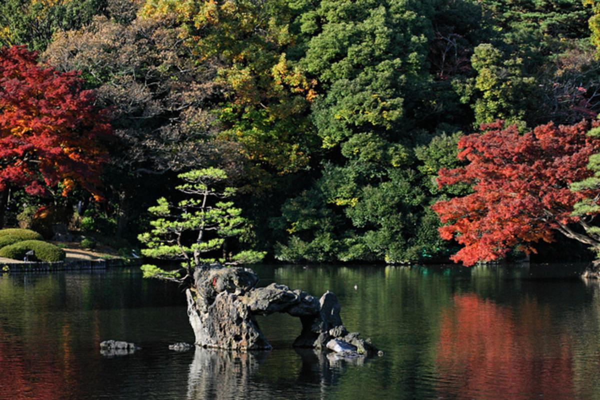 Rikugien Gardens in Tokyo, Japan
