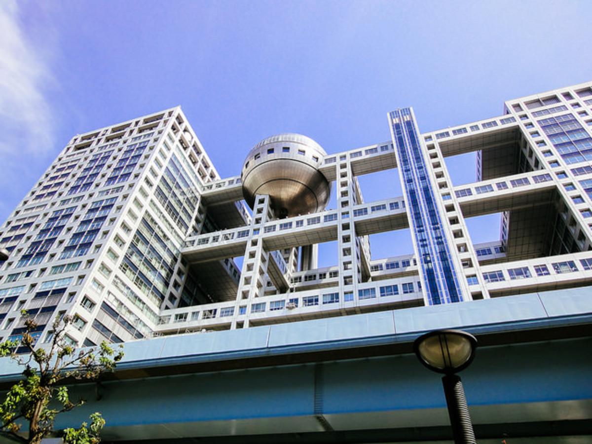 Fuji Television Building Odaiba in Tokyo, Japan
