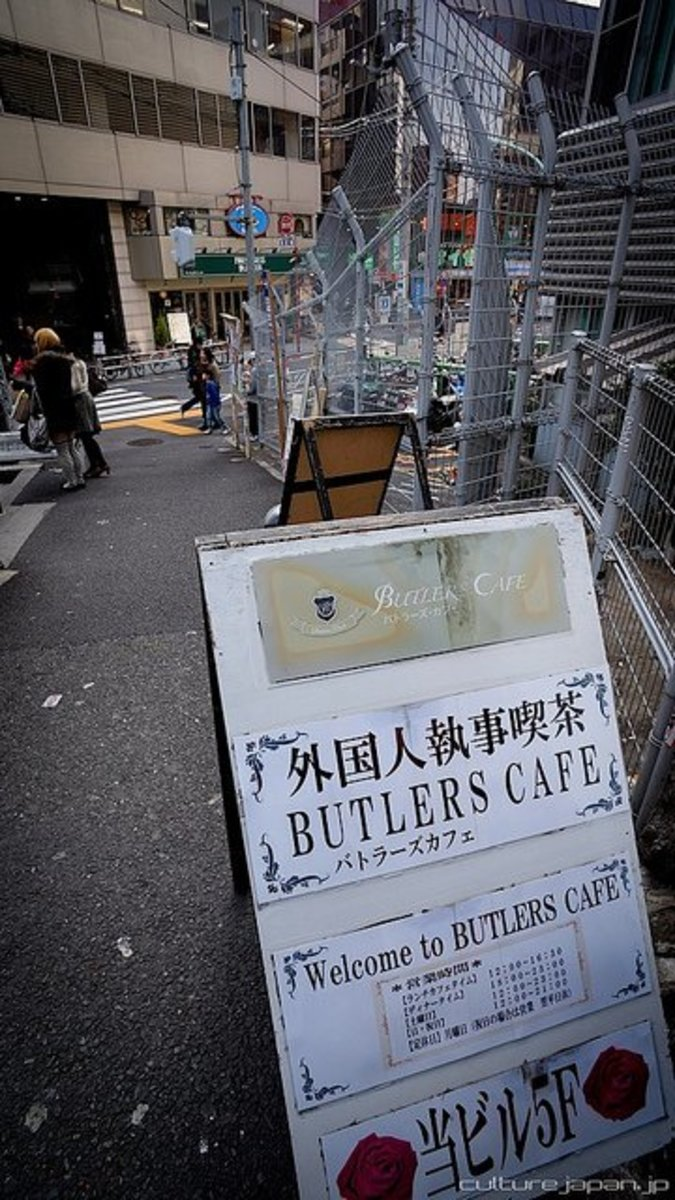 Gaijin Butler Cafe Ikebukuro in Tokyo