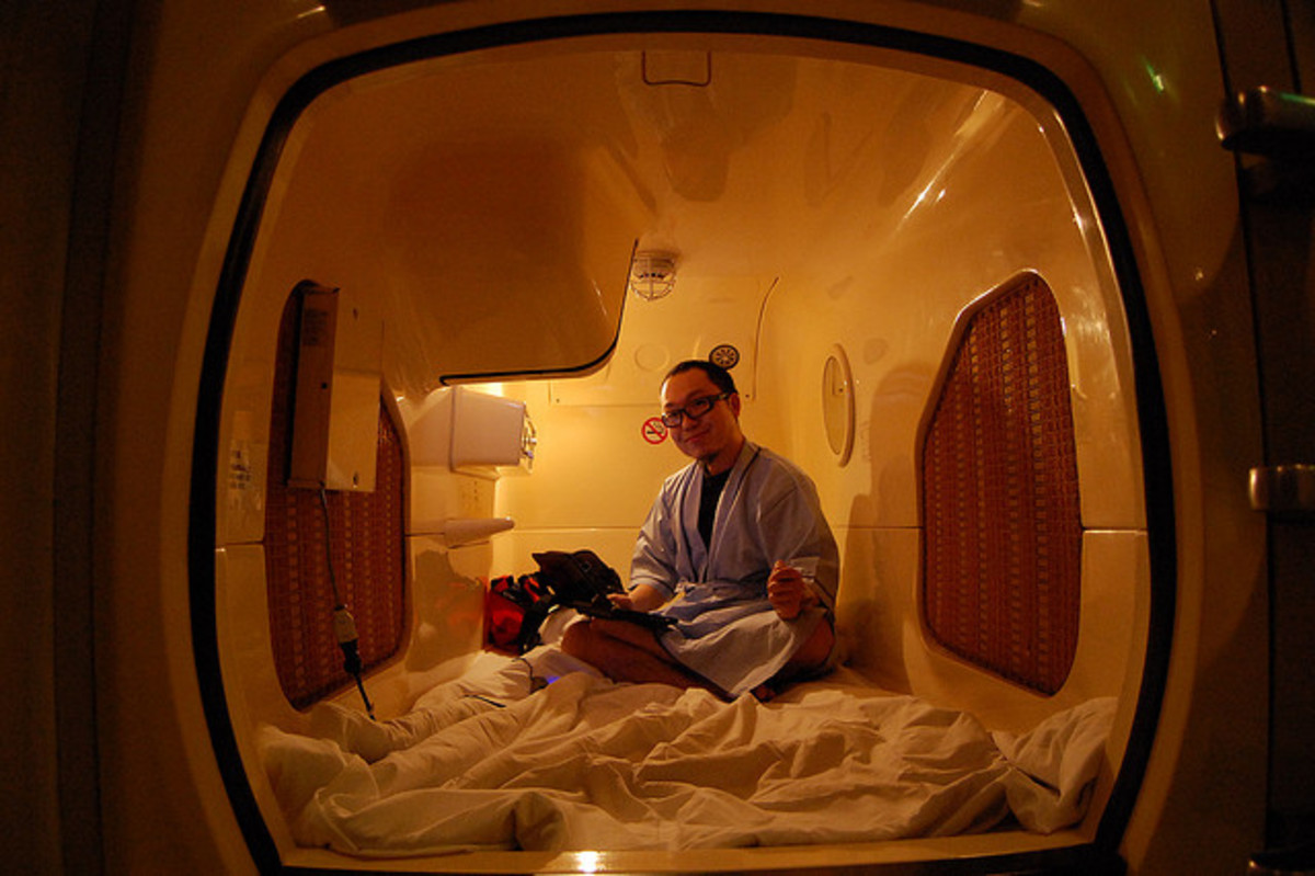 Typical Capsule Hotel