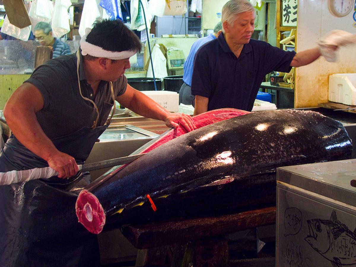 Tsukiji Market in Tokyo, Japan