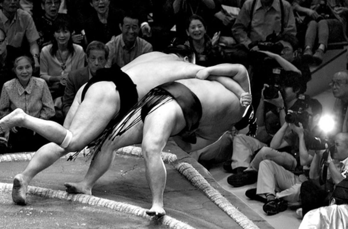 Sumo Wrestlers Tokyo Japan