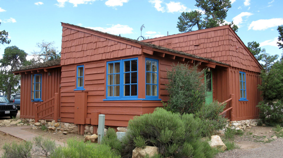 Bright Angel Lodge Cabin 6160-63 at the South Rim of the Grand Canyon, Grand Canyon National Park, Arizona, USA